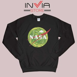 NASA Logo Get Schwifty Black Sweatshirt