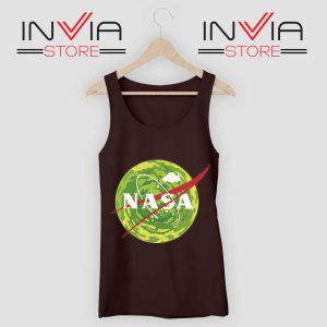 NASA Logo Get Schwifty Black Tank Top