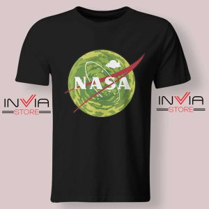 NASA Logo Get Schwifty Black Tshirt