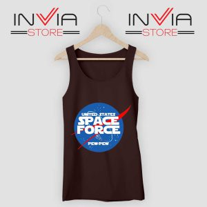NASA Space Force Black Tank Top
