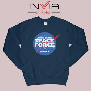 NASA Space Force Navy Sweatshirt