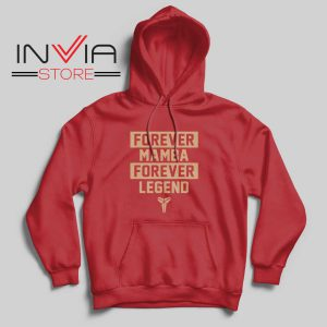 NBA Forever Mamba Forever Legend Red Hoodie