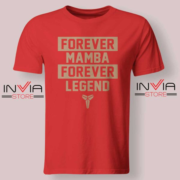NBA Forever Mamba Forever Legend Red Tshirt