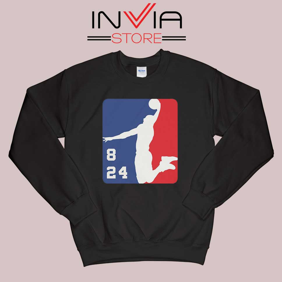 NBA Logo Kobe 8 and 24 Lakers Black Sweatshirt