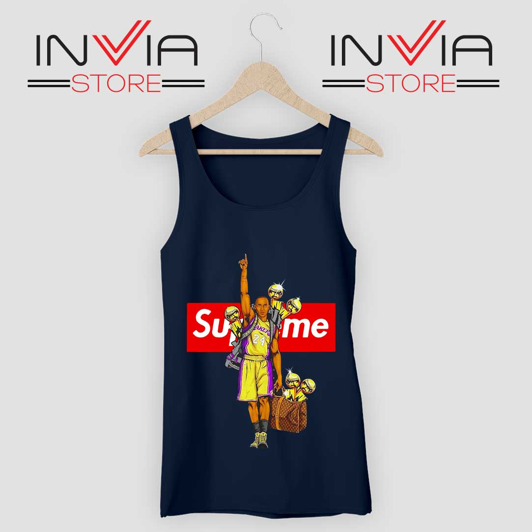 RIP Kobe Trophy Supreme Navy Tank Top