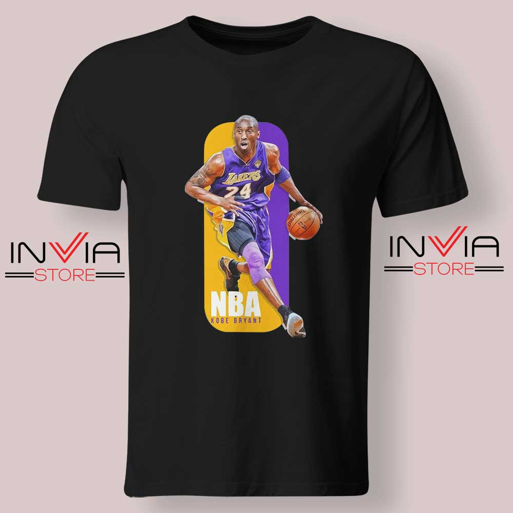 RIP Legends Kobe Bryant NBA Logo Tshirt Black