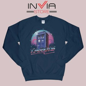 Rad Tardis Dr Who Police Box Navy Sweatshirt