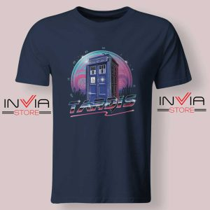 Rad Tardis Dr Who Police Box Navy Tshirt