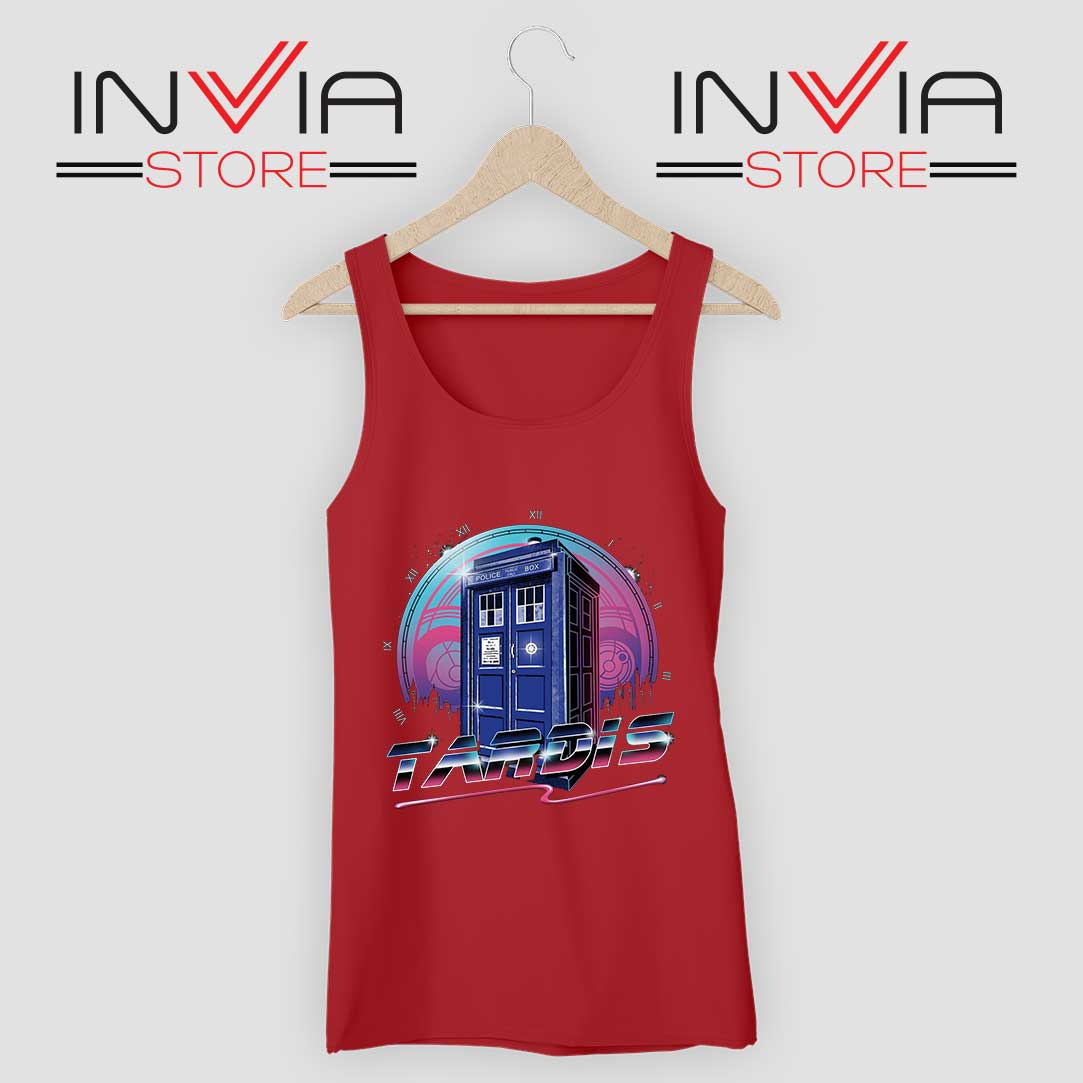 Rad Tardis Dr Who Police Box Red Tank Top