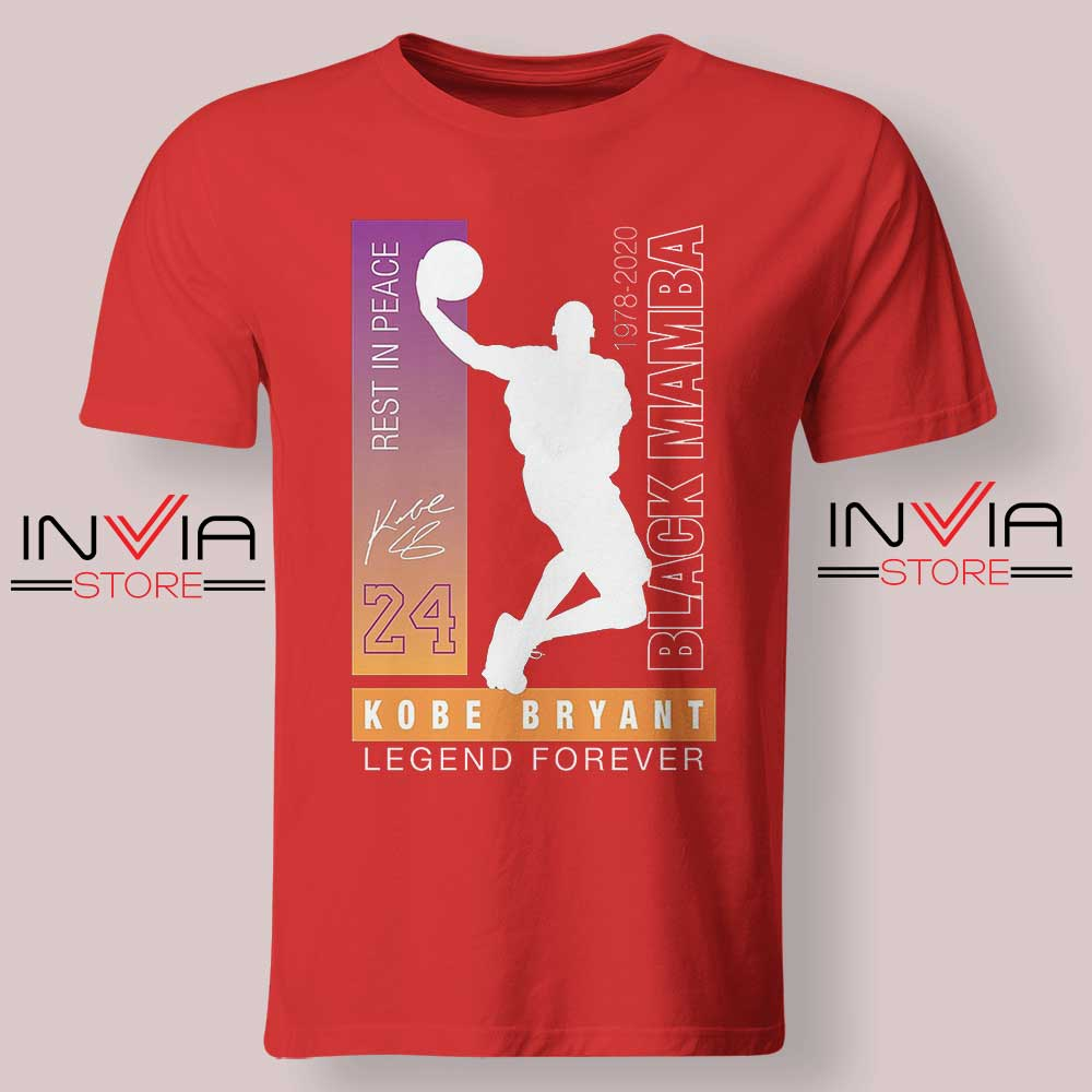 Rest In Peace Legend Kobe Red Tshirt