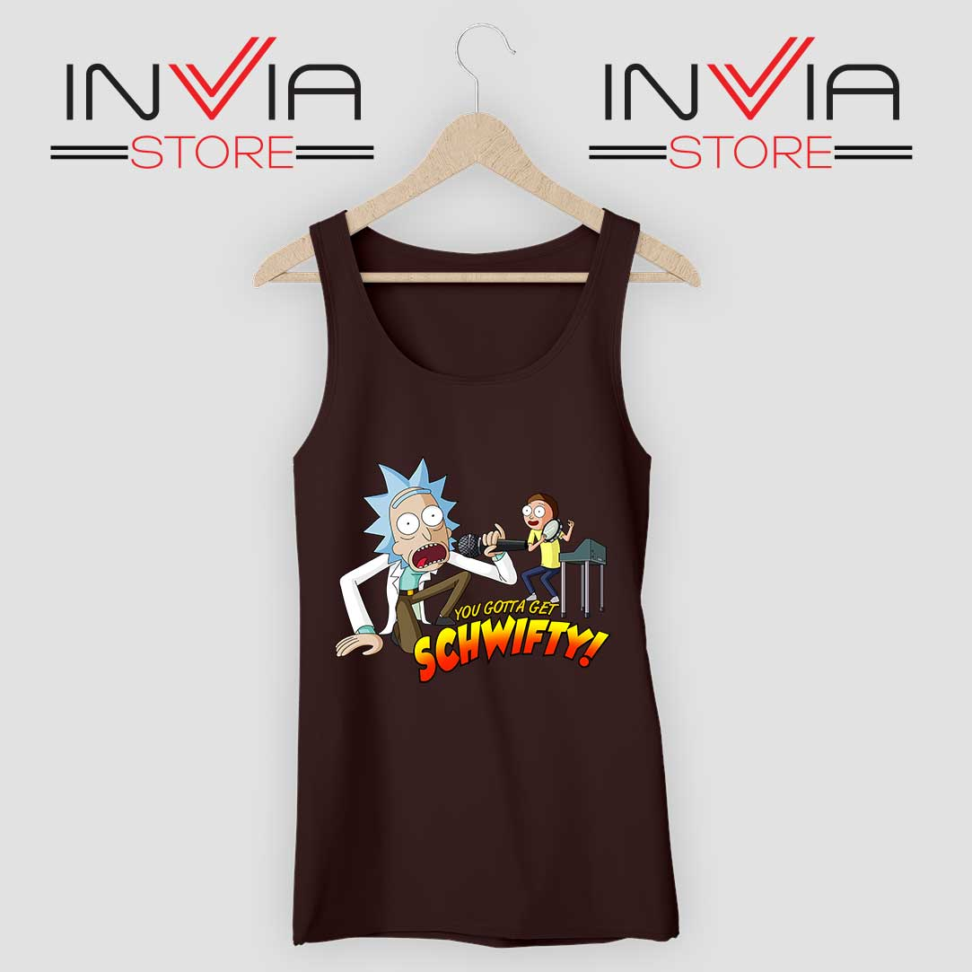 Rick and Morty Get Schwifty Black Tank Top