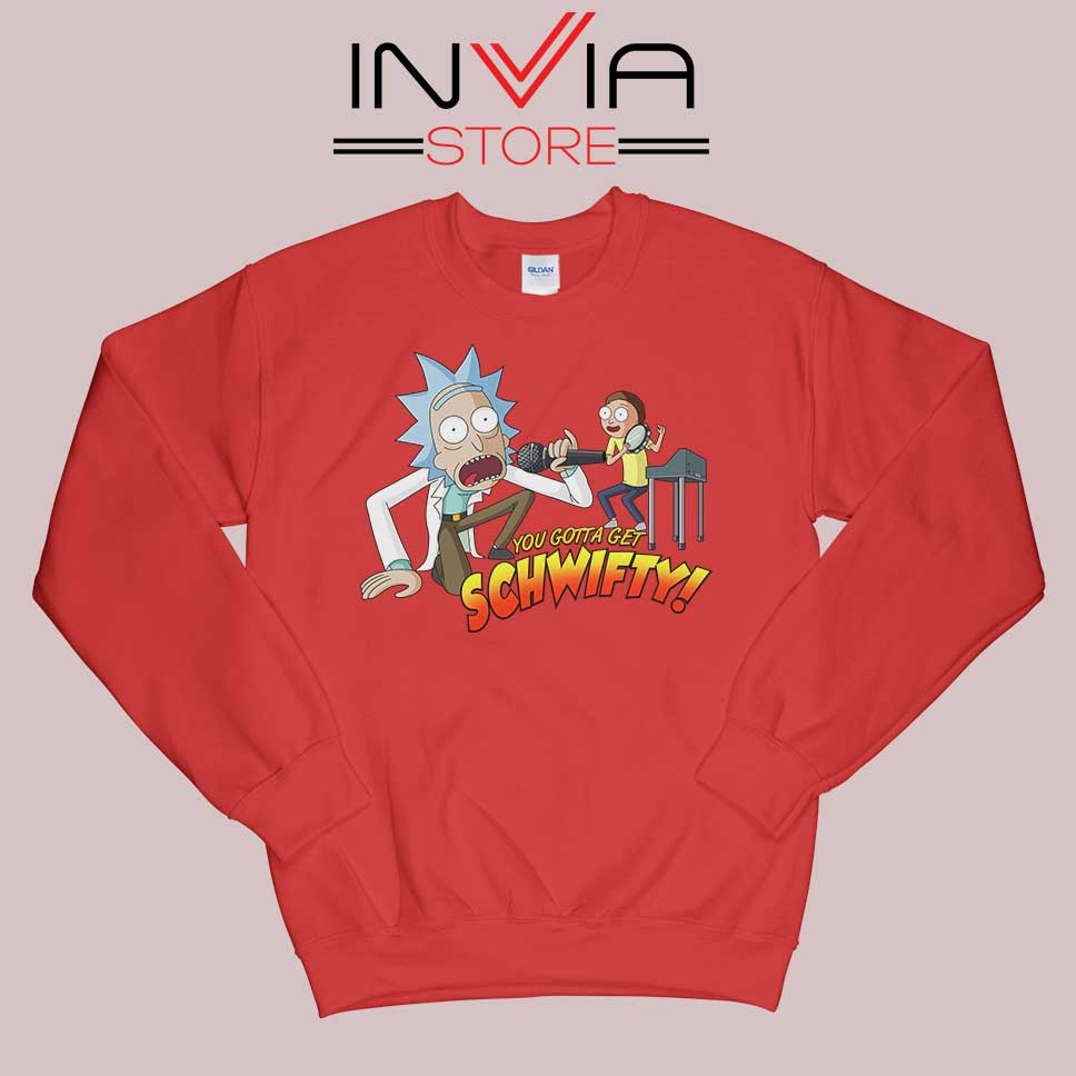 Rick and Morty Get Schwifty Red Sweatshirt