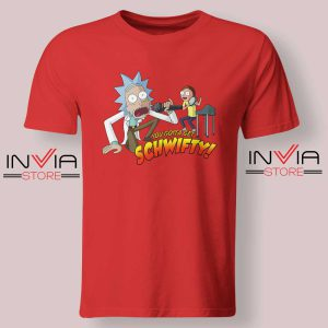 Rick and Morty Get Schwifty Red Tshirt