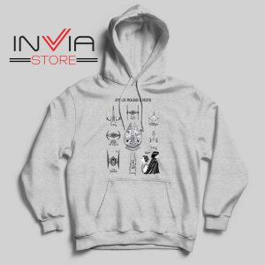 Star Wars Ship Collection Grey Hoodie