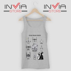 Star Wars Ship Collection Grey Tank Top
