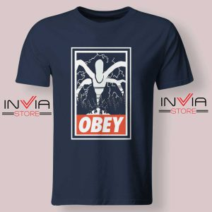 Stranger Things Demogorgon Obey Navy Tshirt