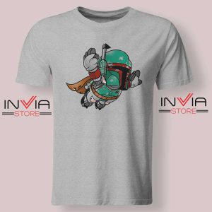 Super Bounty Hunter Star Wars Grey Tshirt