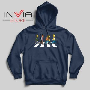 The Simpsons Abey Road Navy Hoodie