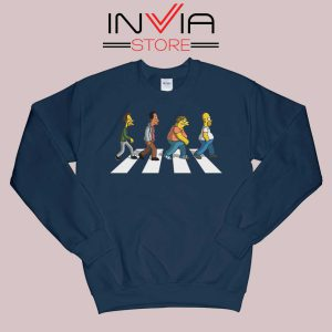 The Simpsons Abey Road Navy Sweatshirt