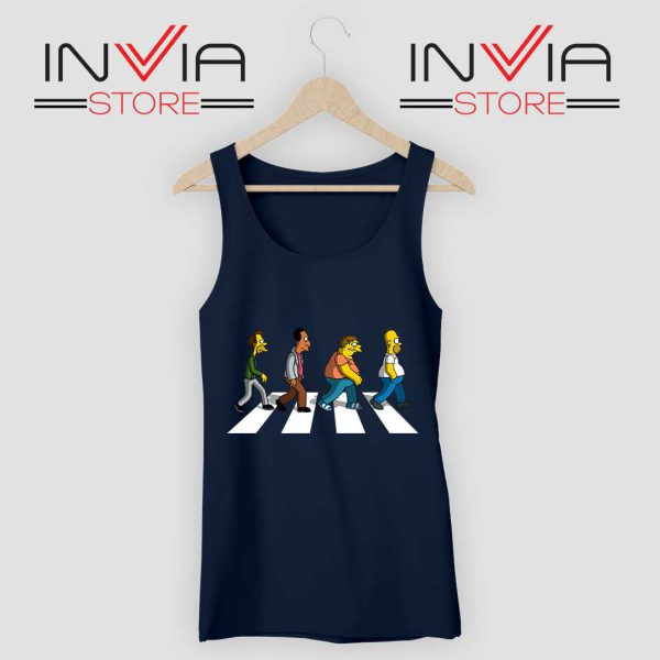 The Simpsons Abey Road Navy Tank Top