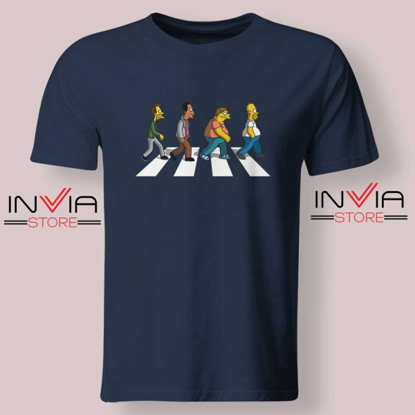 The Simpsons Abey Road Navy Tshirt