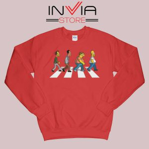 The Simpsons Abey Road Red Sweatshirt