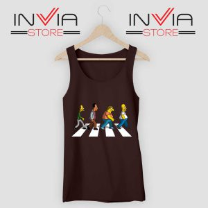 The Simpsons Abey Road Tank Top