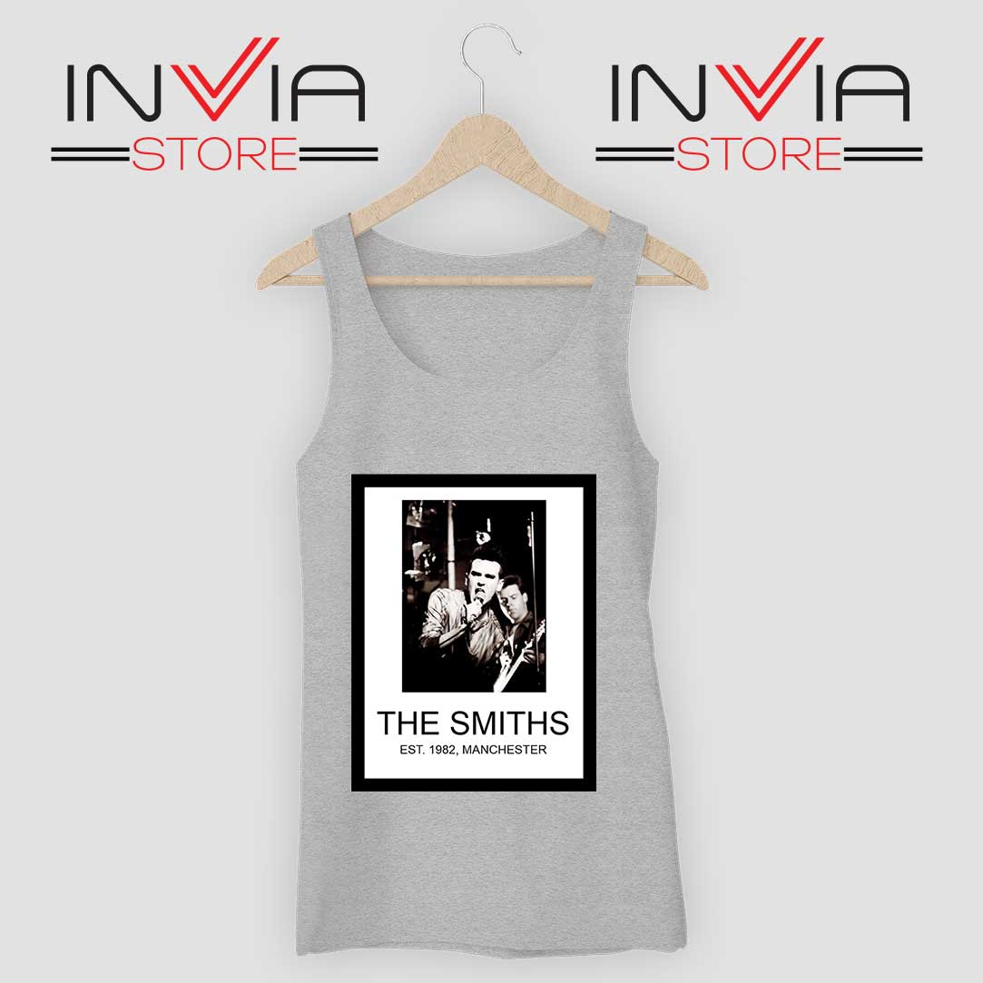 The Smiths Est 1982 Band Grey Tank Top