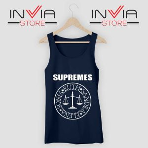 The Supremes Sandra Ruth Sonia Elena Navy Tank Top