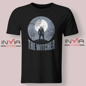 The Witcher Dark Moon Black Tshirt
