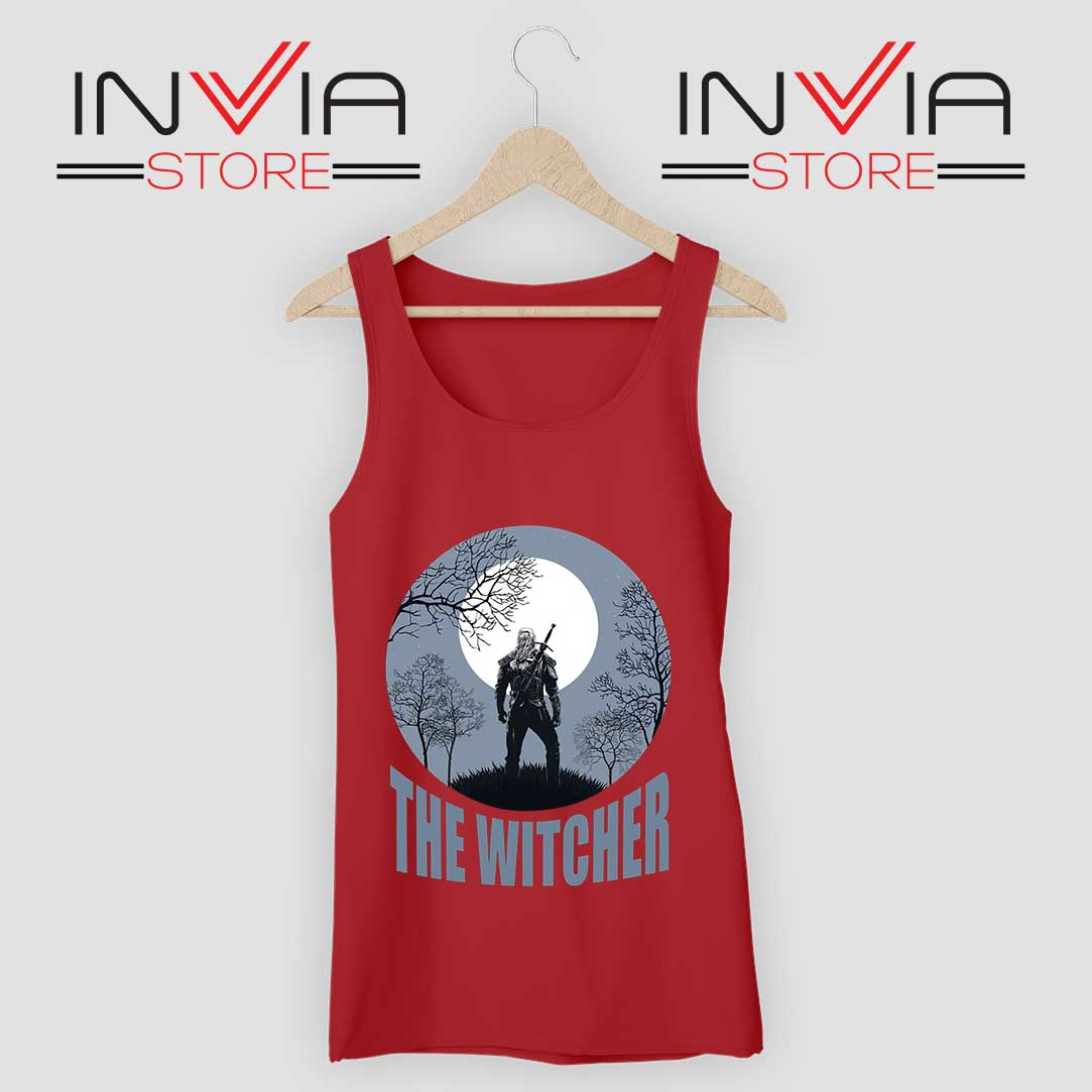 The Witcher Dark Moon Red Tank Top