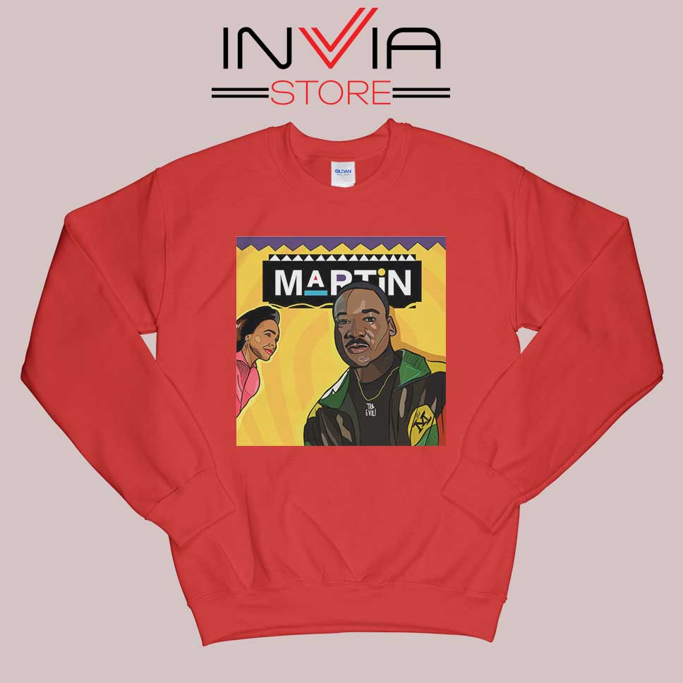 Wassup Like Martin Red Sweatshirt