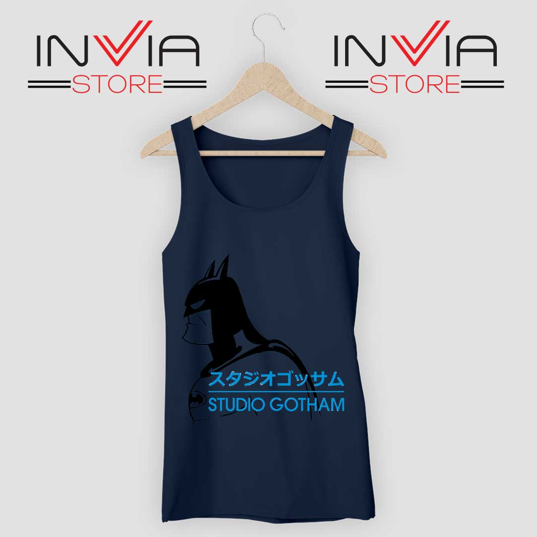 Batman Studio Gotham Navy Tank Top