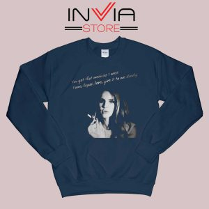 Lana Del Rey Gods and Monsters Navy Sweatshirt