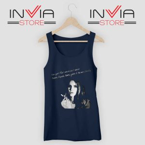 Lana Del Rey Gods and Monsters Navy Tank Top