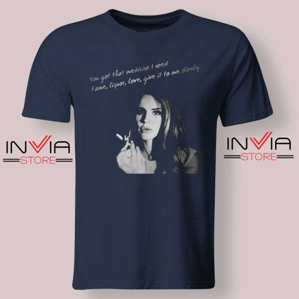 Lana Del Rey Gods and Monsters Navy Tshirt