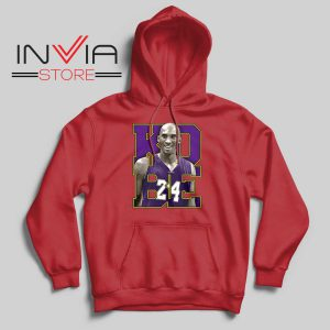 Memorial Black Mamba 24 Red Hoodie