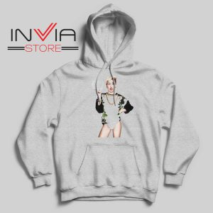 Miley Cyrus Sexy Pose Grey Hoodie