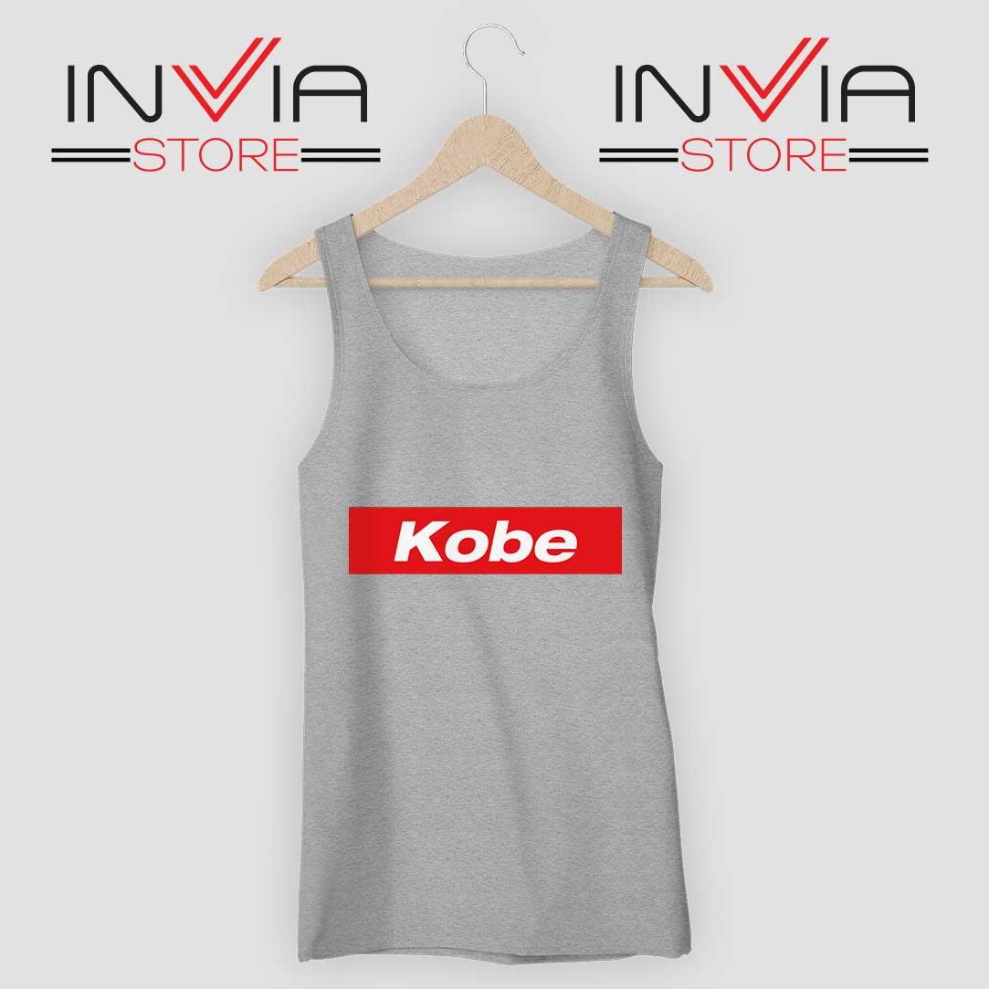 RIP Kobe Supreme Mamba Grey Tank Top