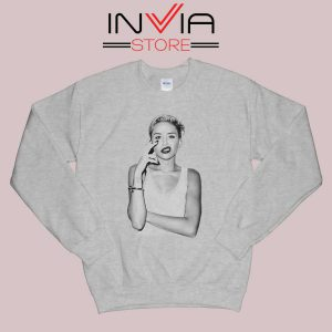 Smoke Sexy Miley Cyrus Grey Sweatshirt