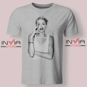 Smoke Sexy Miley Cyrus Grey Tshirt