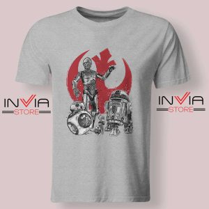 Star Wars The Rise of Droids Grey Tshirt