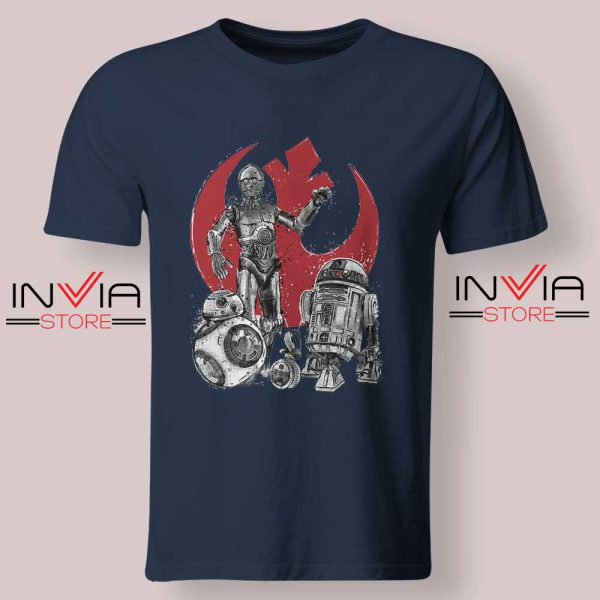 Star Wars The Rise of Droids Navy Tshirt